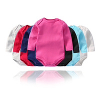 2019 Spring High Quality Cotton Baby Girl Bodysuit Children Boys Long Sleeve Newborn Infant Clothes 3pcs