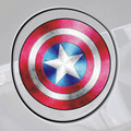 2016 Hot Sale 11*11cm Car Tank Cup stickers Auto Car Styling Avengers Captain America Shield Sticker Decal Waterproof Stickers