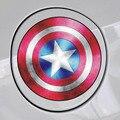 2016 Venta Caliente 11*11 cm Taza Tanque pegatinas de Coche Auto Car Styling Vengadores Capitán América Shield Sticker Decal a prueba de agua Pegatinas