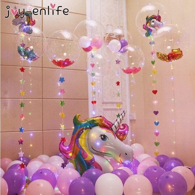JOY ENLIFE Unicorn Party DIY PVC Bobo Balloon With 3M Led ...