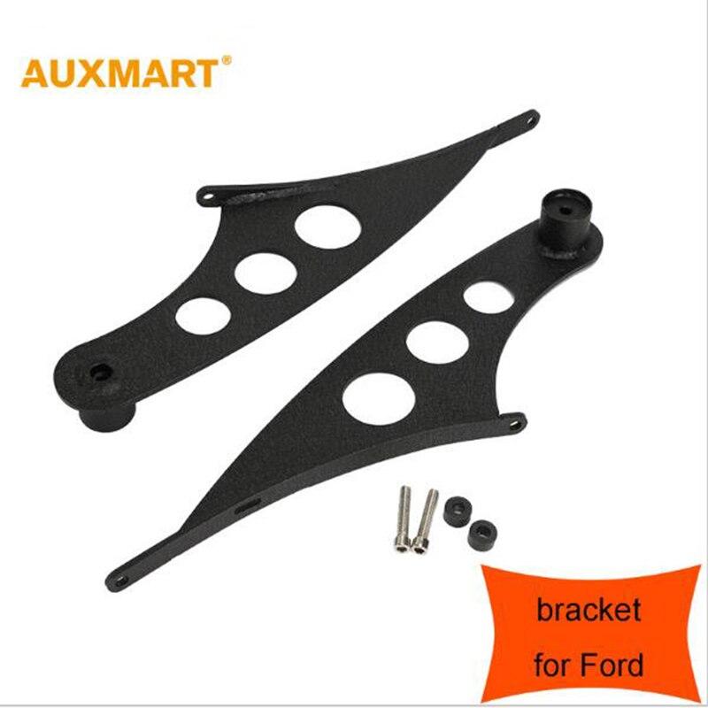 цена на Auxmart A pair Matt Black 50inch straight LED Offroad Light Bar Roof Top Mounting Bracket for Ford Raptor F150 2009-2014 SUV ATV