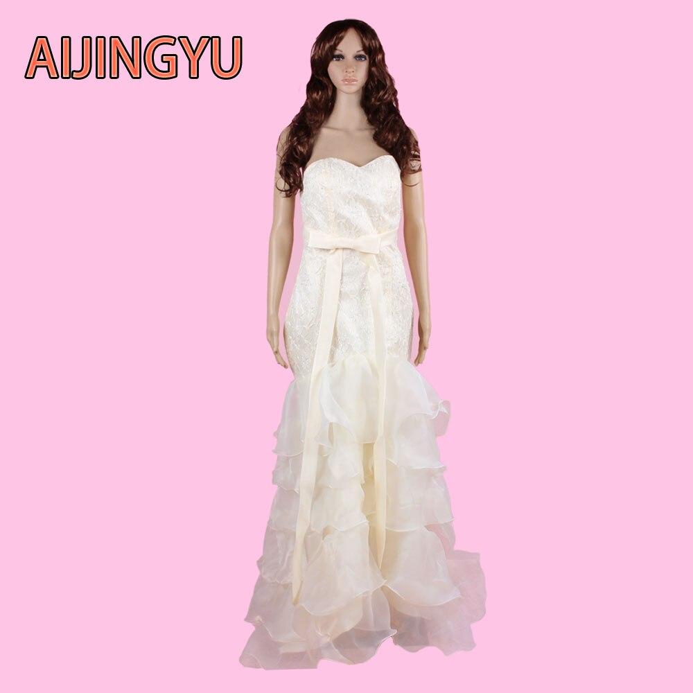⃝Aijingyu envío gratis nueva moda 2017 vestido nupcial de la ...