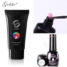 Gelike Pink Poly Gel Natural Extension Long Nails Top Coat Base UV Set 60G