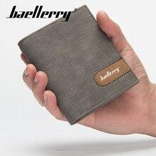 Baellerry Men Solid Short Wallet PU Leather Clip Cross Vertical Wallet Coin Pocket Card Holder Photo Holder Wallet Porta Men Bag цены