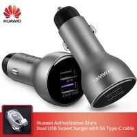 Original Huawei coche cargador rápido inteligente rápido cargadores 27 5 W 4 5 V 9V 9V 5A tipo-C Cable para samsung Iphone sobrealimentador AP38