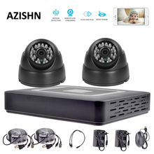 HD 4CH CCTV System 1080P HDMI AHD DVR 2PCS 720P/1080P AHD Cameras CCTV  DOME camera indoor Surveillance security camera system