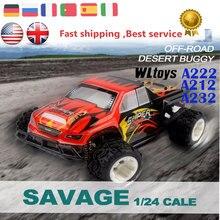 Monster Truck WLtoys passatempo A212 A222 A232 Carro RC 1/24 Do Hight velocidade de Corrida 4WD Elétrico RC Deriva De Controle Remoto Carro de Presente para crianças