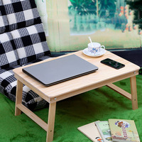 Folding Wood Laptop Table Bed Laptop Stand Desk Bed Sofa Learning Table Portable Computer Notebook Table