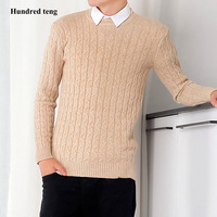 2017 New Sweaters Autumn Winter Striped Sweater Men Vintage Pullovers O Neck Slim Fit Knitwear