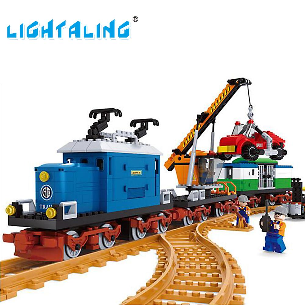 Kids Building Toy Locomotive Train Model Blocks City Transport Minifigures Children Educational Gift Lightaling relax mode комплект одежды