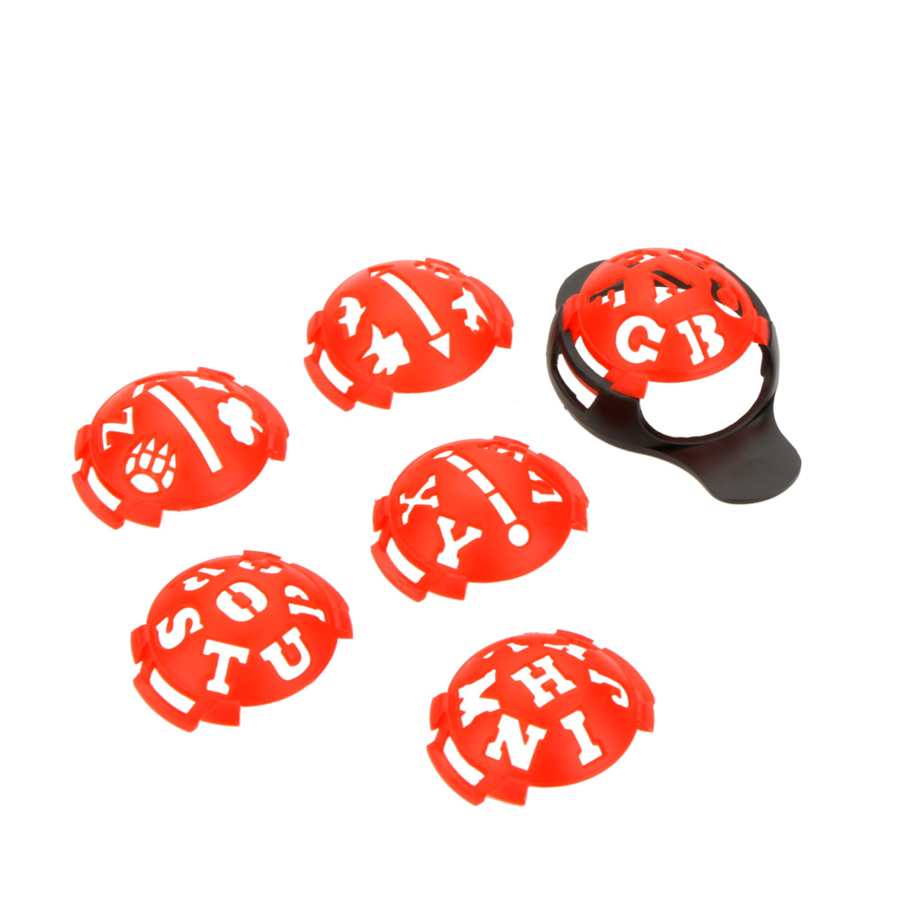Red Golf Ball Line Liner Marker Template Mark Putting Alignment Tool