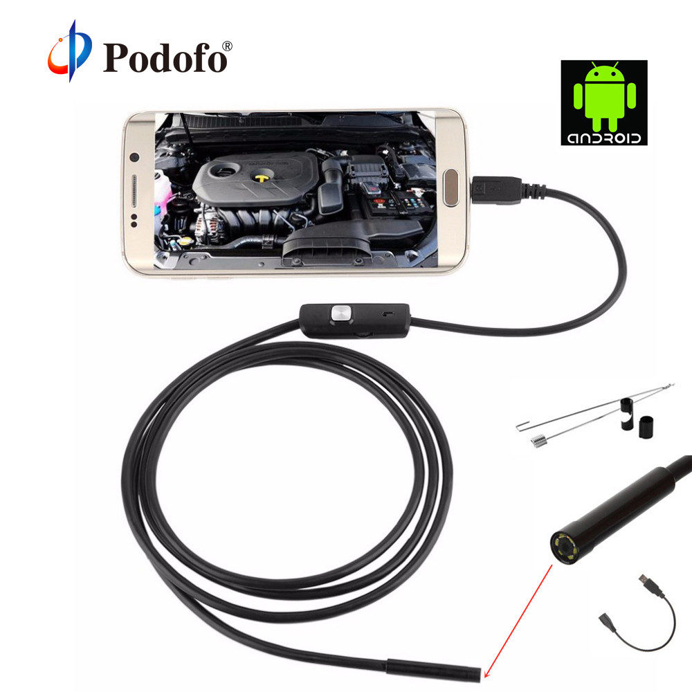 Security & Protection Video Surveillance Podofo 5.5mm 5m Endoscope Camera Mirco Usb 6led Android Ip67 Waterproof Soft Pipeline Pcb Pc Inspection Mini Borescope Camera