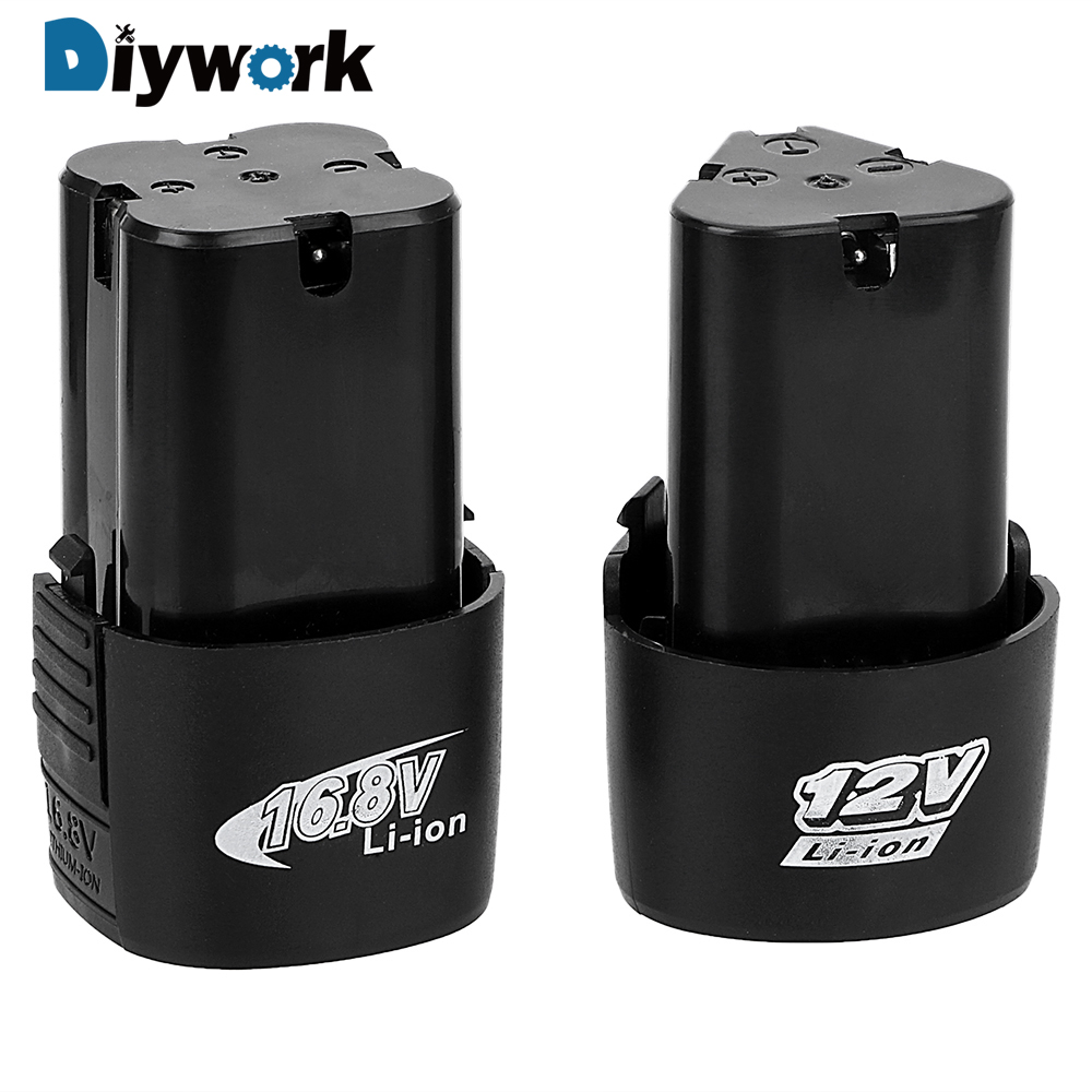 Diywork Electric Drill Battery Socket 16.8v 12v Lithium Battery For Cordless Screwdriver Electric Drill Battery High Capacity Terrific Value