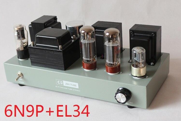 2017 Nouveau Nobsound 6N9P poussée promotionnelle EL34 simple classe A Monté tube tube amplificateur machine produire 8 w + 8 w