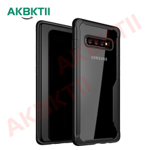 AKBKTII Shockproof Armor Case For Samsung Galaxy S10 Plus S10e Transparent Cases Cover Silicone Coque