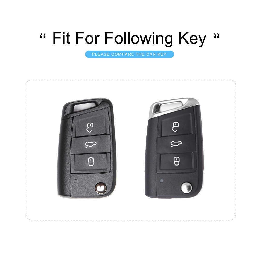2019 nueva cubierta de la caja de la llave del coche de TPU para Volkswagen VW Golf 7 MK7 Passat Polo Tiguan para el asiento de León para Skoda clave FOB Shell