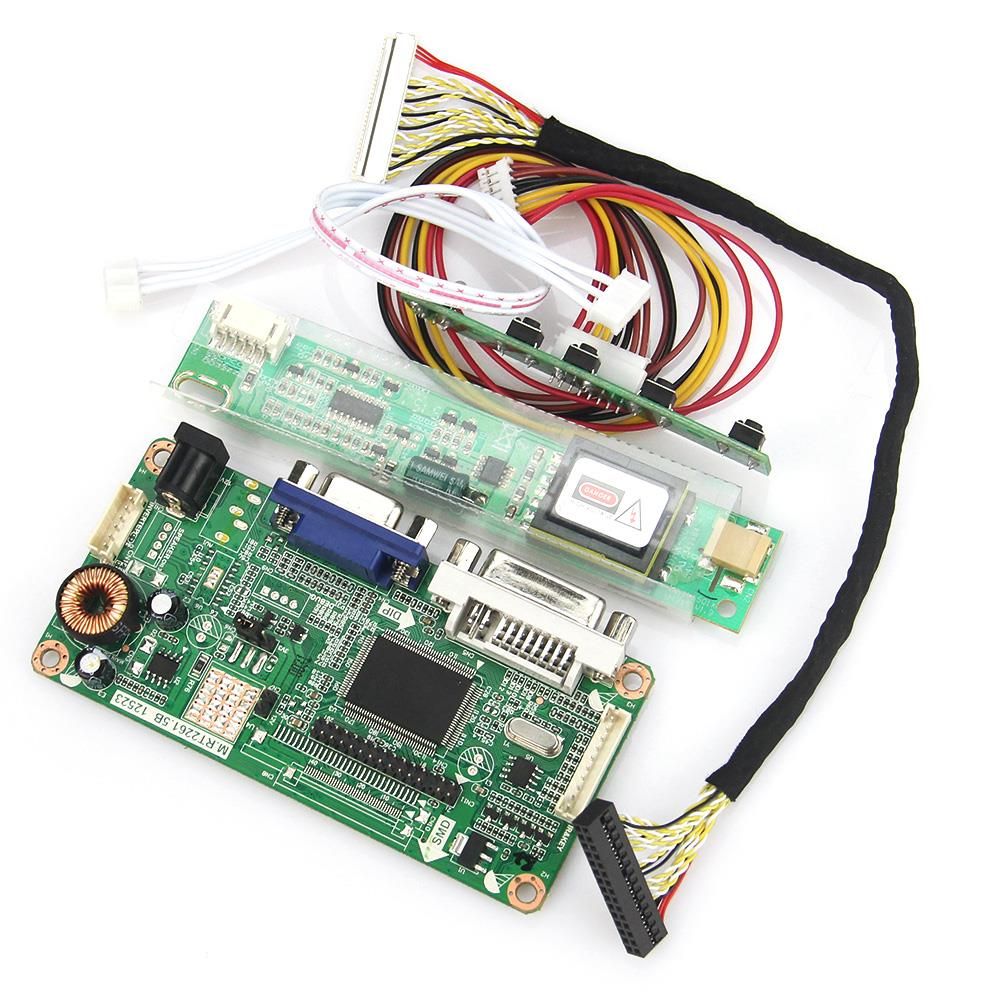 VGA+DVI M.RT2261 M.RT2281 LCD/LED Controller Driver Board For LP154WX4-TLCB  1280x800 LVDS Monitor Reuse Laptop