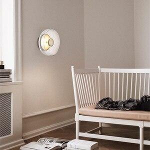 Image 3 - Pós moderna loft vidro conduziu a lâmpada de parede itália designer tigela quarto cabeceira sala jantar estudo decro luminárias frete grátis