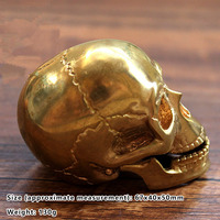 1PC Large Size EDC Skull Brass ProductionPure Copper Skull Jaws Movable EDC Tools Accessories Outdoor Survival Camping Equipment