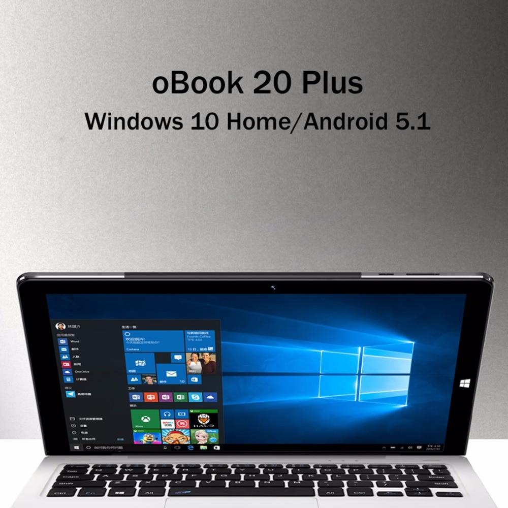 Original ONDA oBook 20 Plus 10.1 pouces tablettes Windows 10 maison Remix OS 2.0 Android 5.1 double OS Intel X5-Z8350 Quad Core 4 GB 64 GB - 5