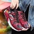 JARLIF Женщин Повседневная Обувь Узелок Denim Воздуха Спорт Корзина Обувь Унисекс Суперзвезда Тренеров Zapatillas Красный Граффити Любовник Обувь