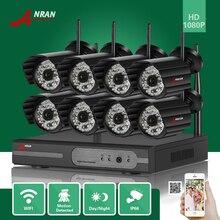 ANRAN 8-КАНАЛЬНЫЙ P2P HDMI 1080 P WI-FI NVR 48IR Пуля Водонепроницаемый Открытый Беспроводная Ip-камера Видеонаблюдения CCTV Видео Системы