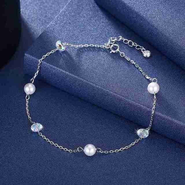 JEMMIN Gorgeous Trendy Gift For Lover/Girlfriend/Sister Romintic Anklet 925 Sterling Silver Modern Charming Women Girl Jewelry
