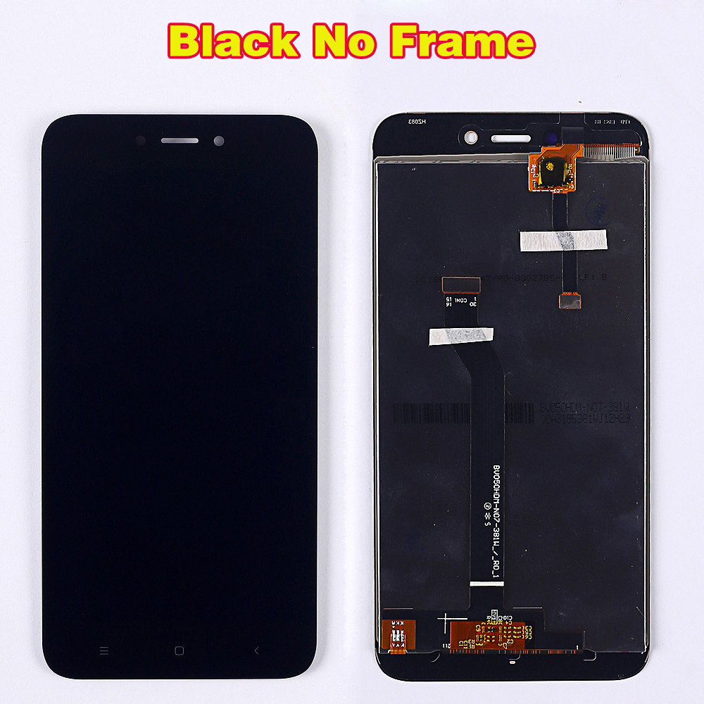 HTB1XILdUbvpK1RjSZPiq6zmwXXa1 100% Tested LCD Display For Xiaomi Redmi 5A 5.0 inch Digitizer Sensor Glass Assembly touch screen frame with Free Tempered Glass