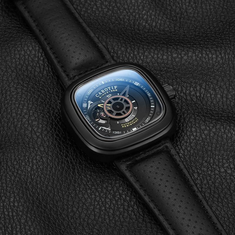 Carotif casual δερμάτινα μηχανικά ρολόγια - Ανδρικά ρολόγια - Φωτογραφία 3