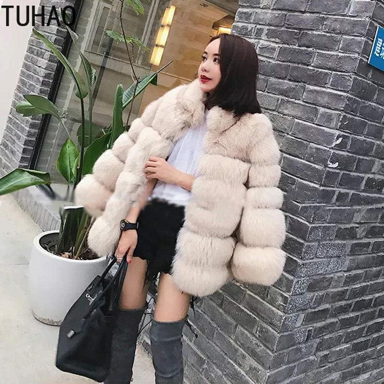 Casual 2xl Fourrure pourpre Fausse Blanc Street Royal Taille marron Fluffy Manteaux kaki Manteau Élégant La Veste Et Tuhao High Femmes Femme Plus bleu 3xl En Caost Hiver TxCqwZzB