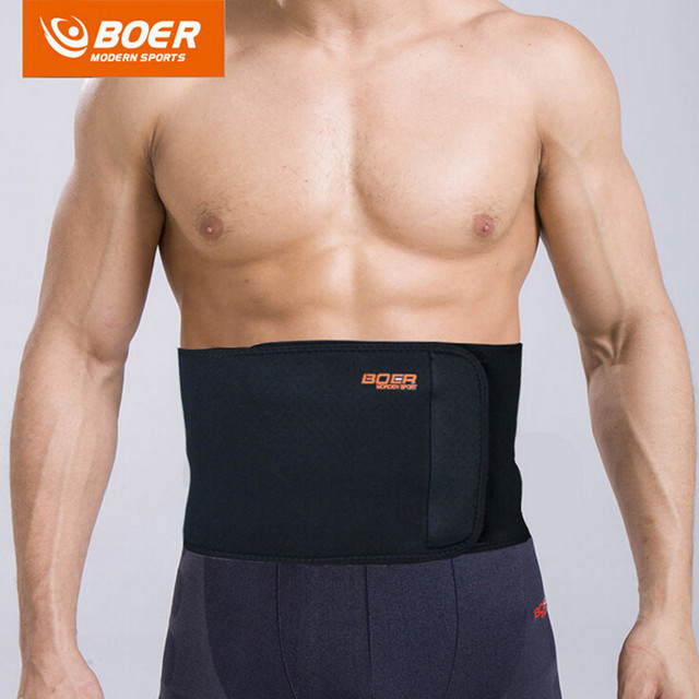 BOER High-Elastic Shockproof SBR CR Sport Breathable Adjustable Waist Back Belt Support Lumbar Band Protective Gear 2 Colors