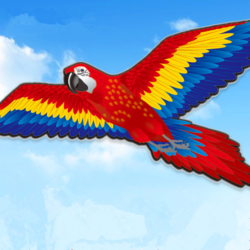 New Arrival 188cm Super Creative Parrot Kite Stereo bird Kite flying with long tail Outdoor Sport Toys For Children Adults Gift