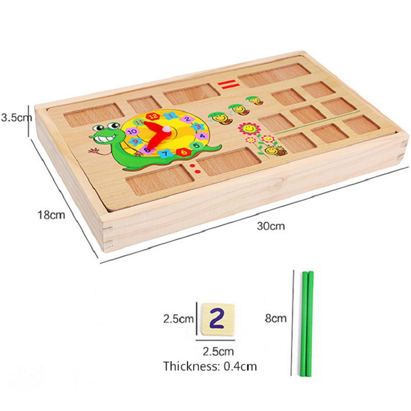 Montessori Math Wooden learning education educational Toys including 100PCS Sticks 70PCS digital cards board game