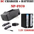 Reemplazar la batería np-f970 np-f960 f950 f970 f550 np f750 batería + cargador para sony plm-100 ccd-trv35 mvc-fd91 para mc1500c 190 p