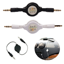 Ascromy 3.5mm Retractable Earphone Jack Aux Audio Cable For Car Iphone Samsung Phone GPS MP3 MP4 Music Headphone Stereo Speaker