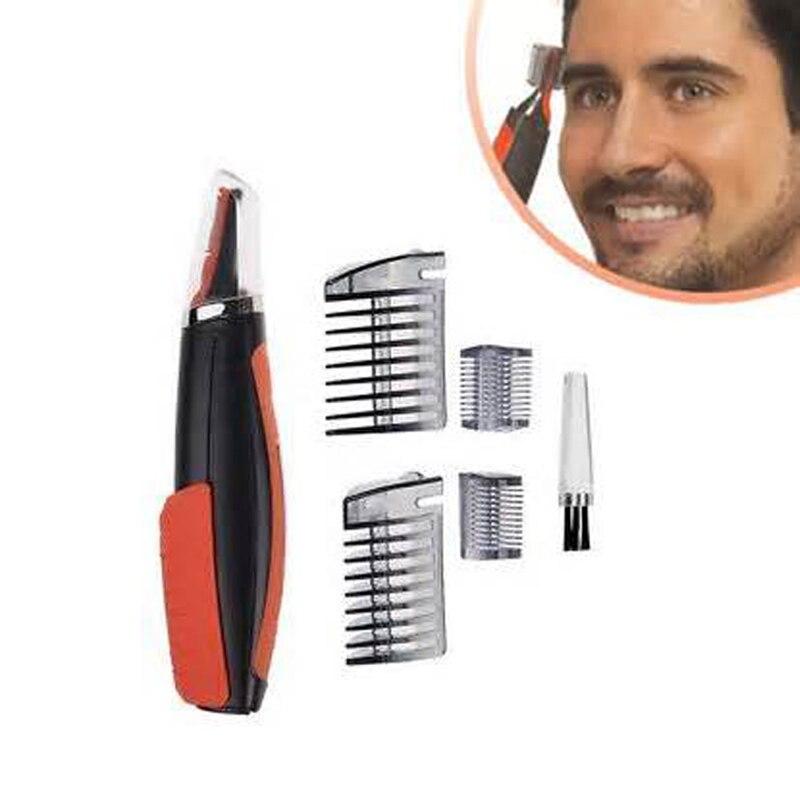 Trimmer doppio per uomo Clipper Micro Barbiere personale Trimmer per capelli Rasoio multifunzione Grooming Remover Controllo antiscivolo LED Light (6)