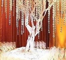Neue Angekommen! 500 M Kristall Girlande Klar 14mm Achteckige Glas Kristall Strands Für Hochzeit Hause Dekoration