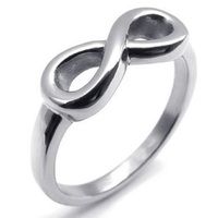 Hot Sales 316L Stainless Steel His Her Promised Love Ring Women Ladies Wedding Engagement Infinity Ring