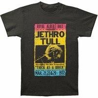 Cool Shirts Novelty Short Jethro Tull Men S Royal Albert Hall Slim Fit T Shirt Coal