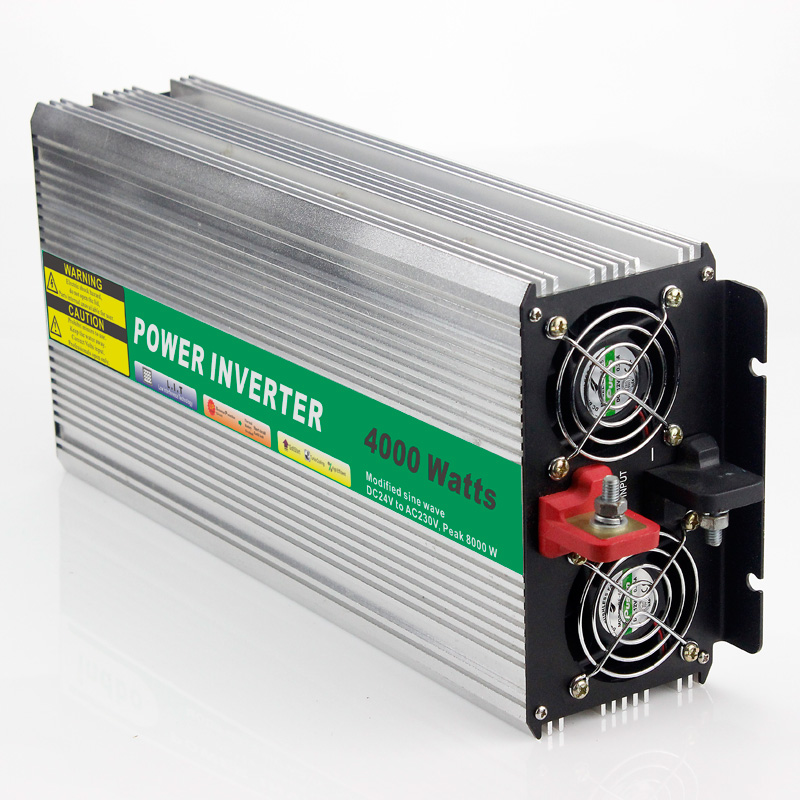MAYLAR@ 24VDC 4000W Modified Sine Wave AC 110V or 220V  Car Power Inverter Converter Power Solar inverters Off grid tie system maylar 22 60vdc 300w dc to ac solar grid tie power inverter output 90 260vac 50hz 60hz