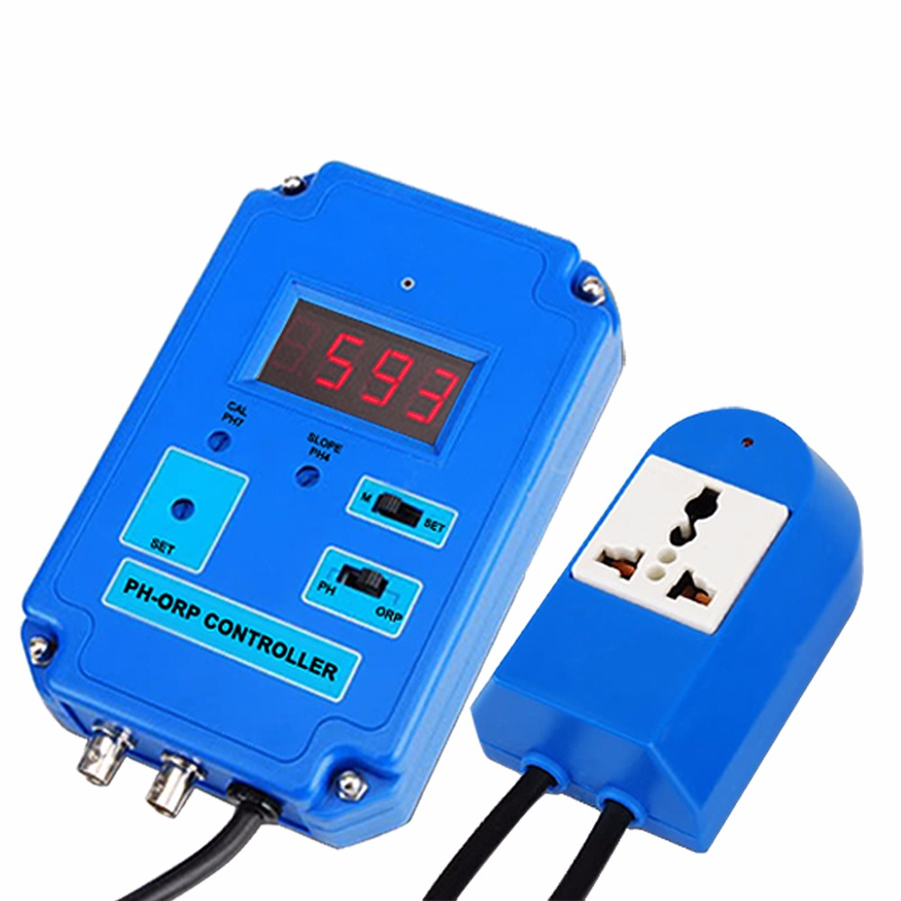 2in1 Digital pH (0 to 14pH) ORP (-1999 ~ 1999mV) Controller Meter Tester Freshwater and Saltwater  in 110V and 220V orp 206 digital orp controller ph meter tester fast shipping