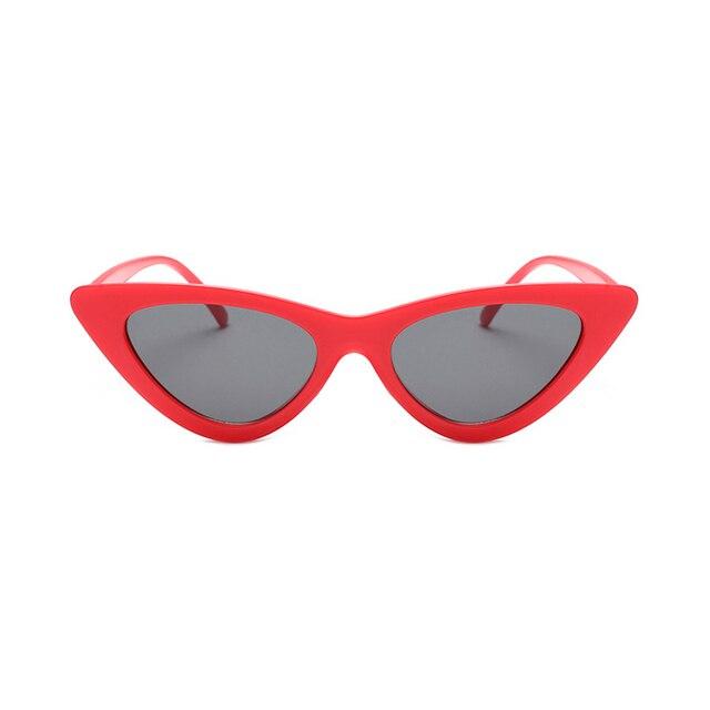 d3505fe25 2018 cute sexy retro cat eye sunglasses women small black white triangle  vintage cheap sun glasses