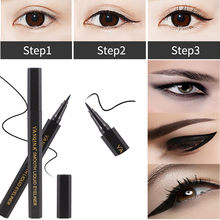 Cat eyeliner waterproof Sexy Eye cosmetics makeup eyeliner pencil Double waterproof Eyeliner Tool maquiagem crayon yeux noir #y4(China)