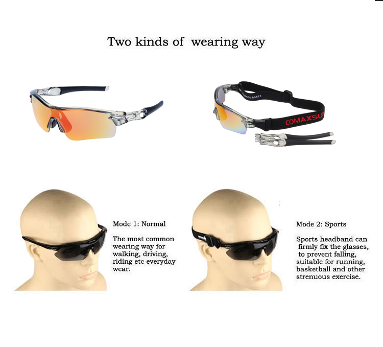 a8f22a6dfe ... COMAXSUN Professional Polarized Cycling Glasses Bike Goggles Sports Bicycle  Sunglasses UV 400 With 5 Lens 5. PRODUCT DETAILS