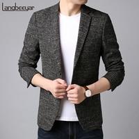 2019 New Fashion Brand Blazer Jacket Men Korean Slim Fit Suits Coat Pattern Pattern Party Dress Trending Casual Men Clothes