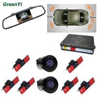 5 inch 800*480 Car Parking Rear View Monitor 2 Video Input Connect Rear / Front Camera Car Parking Sensor Reverse Backup Radar