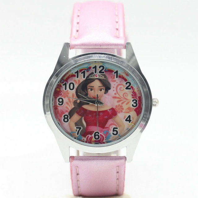 Free Shipping HOT New Watch Elena princess Style Print Leather Band Women Analog