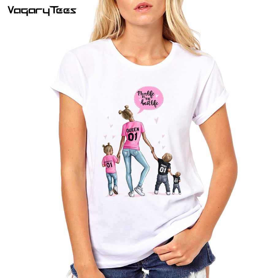Family matching   t     shirt   women mother son daughter outfits   t     shirt   mom mum vogue boy girls tshirts tops gift for women super mom