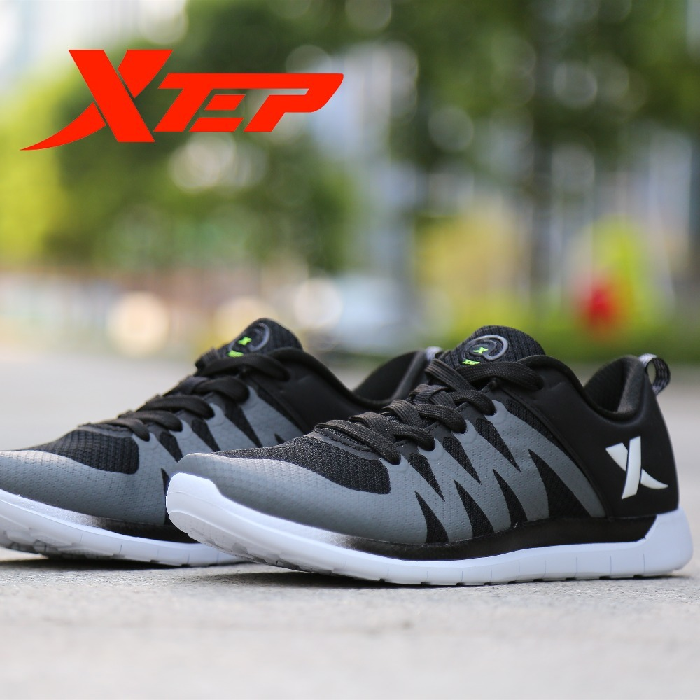 XTEP Men's Running Light Weight Air Mesh sport Athletic Shoes for Men free shipping Sneakers 2017brand sport mesh men running shoes athletic sneakers air breath increased within zapatillas deportivas trainers couple shoes