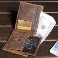 MISFITS мужская Из Натуральной Кожи Бумажник Мужской Старинные Crazy Horse Кожа Короткие Кошелек Подарок для Друга Ретро Портмоне MZ4060